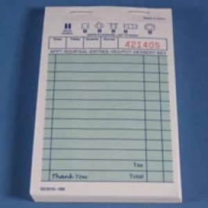 "3.3"" x 5.5"" Single Copy Green Guest Checks (10000 checks) - GC-TGGC"