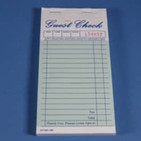 "3.3"" X 6.7"" Two Copy Green Carbonless Guest Check, 2,500 checks/case"