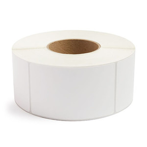 """3"""" x 5"""" Removable Adhesive Industrial Thermal Transfer Labels, 3"""" Core, 1,200 Labels/Roll (8 Rolls) - L-RTT8-300500-3P REM"""