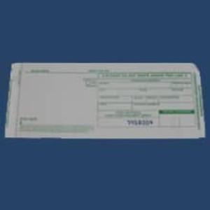 3-Part Long Cash Advance Imprinter Slips (500 Slips) - IS-3CAL
