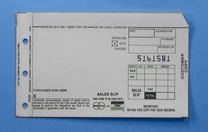 3 Part Short Gas & Oil Sales Imprinter Slips (6600 slips) - IS-3GOS-66