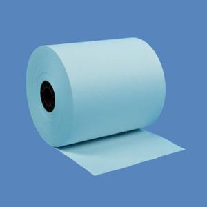 """3"""" x 150' Blue 1-Ply Bond Paper Rolls (50 Rolls) - B300-150-B"""