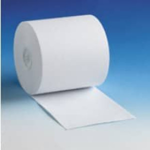 "3"" x 137' White Self Contained Roll Paper, 1-Ply, 50 rolls/case - S300-137"