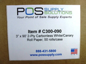 C300-090 2ply Roll Paper Label