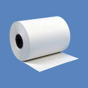 "3"" x 95' White 1-Ply Bond Paper Rolls for Eclipse (50 Rolls) - B300-095"