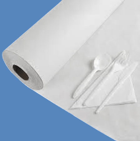 """30"""" x 1000' White 40# Table Paper Roll"""