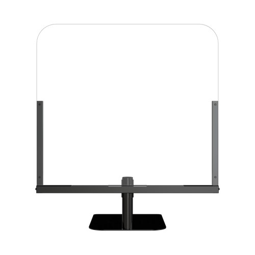 """30"""" x 34"""" Medium Single Panel Clear Acrylic Countertop Shield with Stand"""