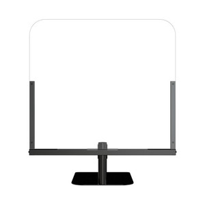 "30"" x 34"" Medium Single Panel Clear Acrylic Countertop Shield with Stand - AC-STAR-37969750"