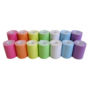 """3.125"""" x 160' MAXStick Colors Variety Pack, Side Edge Adhesive Liner-Free Thermal Labels (28 Rolls) - MS3181602GOSESP"""