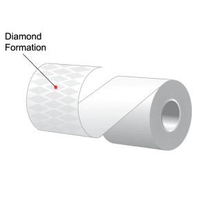 "3.125"" x 240' MAXStick Plus, Diamond Pattern Adhesive Liner-Free Thermal Labels (32 Rolls) - MS3182402GOPLUSD-32"