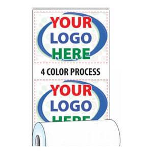 "3 1/8"" x 165' Custom Printed Heavyweight Thermal Paper - 50 Rolls/Case, 5 Min (4-Color Process) - ZP-T318-165-HW-4C"
