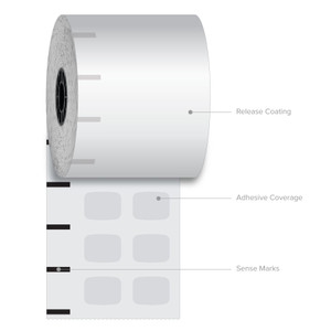"3 1/8"" x 270' Iconex High-Tack Plus Sticky Media Linerless Labels (12 Rolls) - ICON-9023-2507"