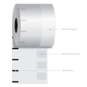 "3 1/8"" x 270' Iconex Standard Sticky Media Linerless Labels (12 Rolls) - ICON-9023-1253"