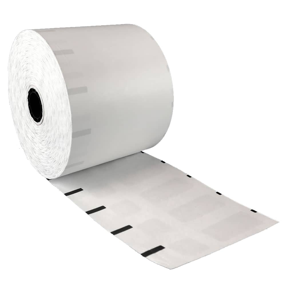 "3 1/8"" x 375' Iconex Ultralite Sticky Media Linerless Labels (30 Rolls)"