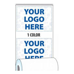 """3 1/8"""" x 815' Custom Printed Thermal ATM Roll Paper - 8 Rolls/Case, 10 Case Min (1-Color) - ZP-A318-815-1C"""