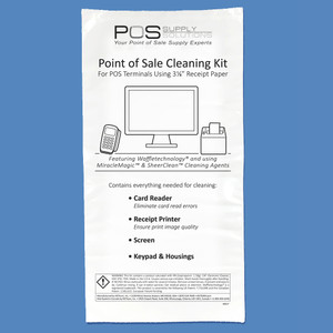 "3 1/8"" Grab-n-Go Point of Sale Cleaning Kit KW3-KPOS3N1 (5 Kits) - KW3-KPOS3N1"