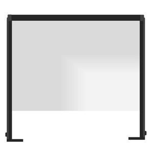 "32.25"" x 29"" Heavy Duty Single Panel Clear Acrylic Countertop Shield"