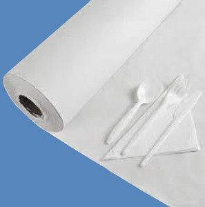 "36"" x 1000' White 40# Table Paper Roll - TP-36-40"