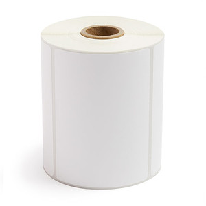 """4.00"""" x 3.00"""" Thermal Transfer Label Perforated, 500 labels/roll, 12 rolls/case - L-RTT4-400300-1P"""