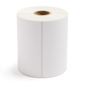 """4.00"""" x 4.00"""" Thermal Transfer Label Perforated, 377 labels/roll, 12 rolls/case - L-RTT4-400400-1P"""