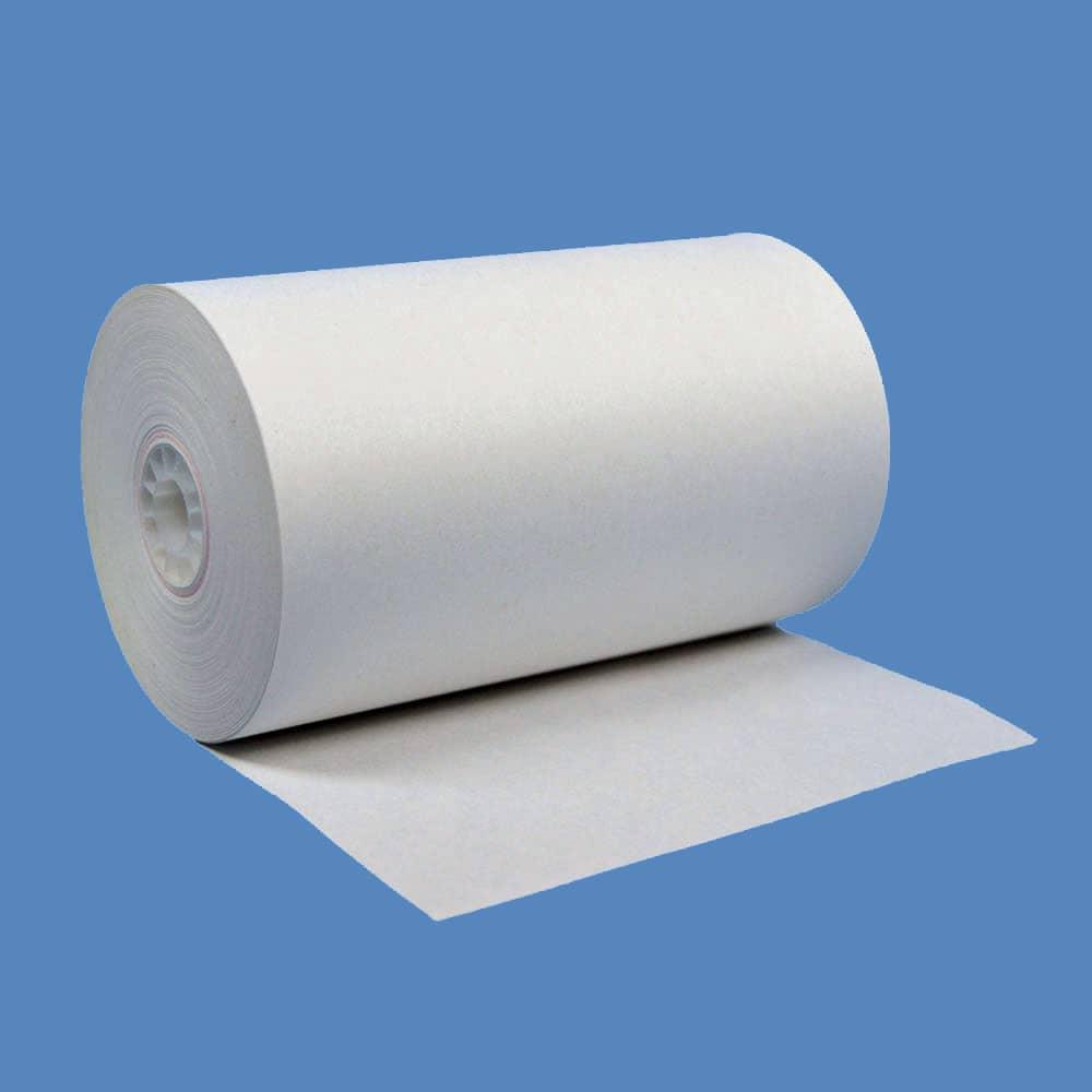 "4 1/2"" x 150' White 1-Ply Bond Paper Rolls (25 Rolls)"