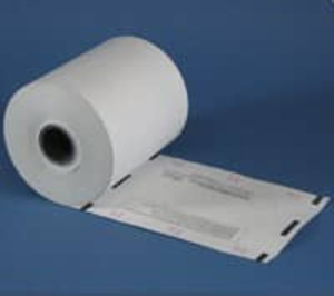 "4 1/4"" wide DELAWARE Thermal Prescription Rx Paper Rolls with timing marks, 16 rolls/case - RX529"