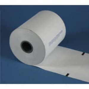 "4 3/8"" wide Thermal Prescription Rx Paper Rolls, with timing marks, 16 rolls/case - RX560"