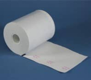 "4 3/8"" wide Thermal Prescription Rx Paper Rolls, with timing mark, 12 rolls/case - RX4.4SM"
