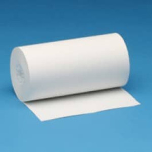 "4 3/8"" x 65' Thermal Receipt Paper Rolls, Vertical Perforation (48 Rolls) - T438-065-VP"