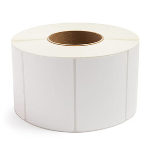 """4"""" x 3"""" Removable Adhesive Industrial Direct Thermal Labels, 3"""" Core, 1,900 Labels/Roll (4 Rolls) - L-RDT8-400300-3P REM"""