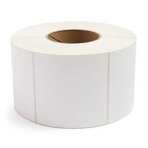 """4"""" x 4"""" Removable Adhesive Industrial Direct Thermal Labels, 3"""" Core, 1,500 Labels/Roll (4 Rolls) - L-RDT8-400400-3P REM"""