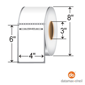 """4"""" x 6"""" RFID Thermal Transfer Labels with Alien Squiggle Inlay for Datamax (5 Rolls) - L-RFID-4-6-ALN9840-800-3-D"""