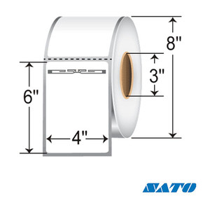 """4"""" x 6"""" RFID Thermal Transfer Labels with Alien Squiggle Inlay for Sato CL4NX (5 Rolls) - L-RFID-4-6-ALN9840-800-3-S"""