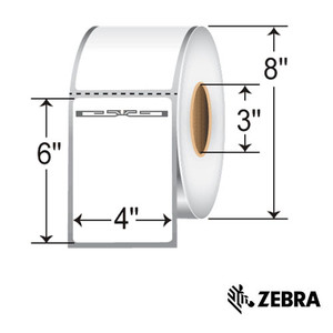 """4"""" x 6"""" RFID Thermal Transfer Labels with Alien Squiggle Inlay for Zebra (5 Rolls) - L-RFID-4-6-ALN9840-800-3-Z"""