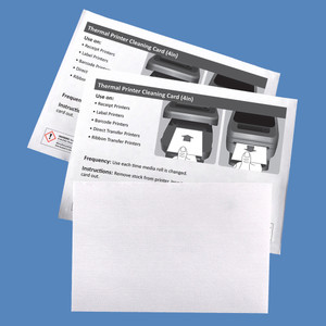 """4"""" Thermal Printer Cleaning Cards K2-T46B25 (25 Cards)"""