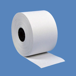 "44mm (1 3/4"") x 150' White 1-Ply Bond Paper Rolls (100 Rolls) - B134-150"