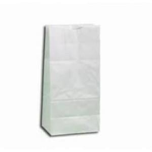 """5 7/8"""" x 3 5/8"""" x 11"""" 6# White Grocery Bags, 500/bundle - SB-6W"""