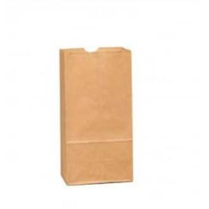 "5"" x 3 1/8"" x 9 7/8"" 4# Brown Grocery Bags, 500/bundle - SB-4"