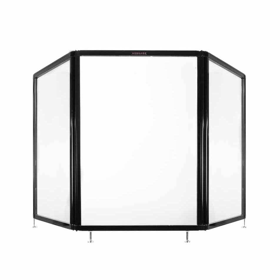 "6'6"" x 3' Heavy Duty Tri-Fold Clear Acrylic Countertop Shield"