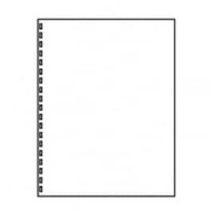 """8 1/2"""" x 11"""" 20# 19-Hole GBC Punch Paper, 2,500 sheets - LC-30771"""