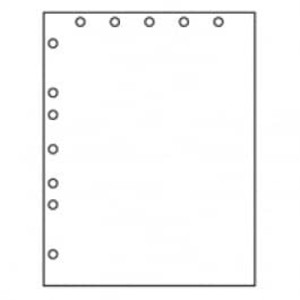 """8 1/2"""" X 11"""" 20# 5-Hole Punch Top 7-Hole Punch Left Paper, 2,500 sheets - LC-30768"""