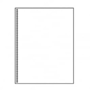 "8 1/2"" X 11"" 24# Spiral Style Paper, 2,500 sheets - LC-30775"