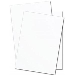 """8.5"""" x 11"""" Accent Opaque 80# Text Menu Paper - White (400 Sheets) - MEN-M22-611D"""