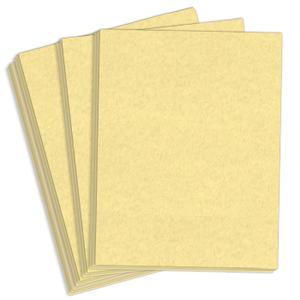 "8.5"" x 11"" Astroparche 60# Vellum Menu Paper - Ancient Gold (500 Sheets) - MEN-M22-630F"