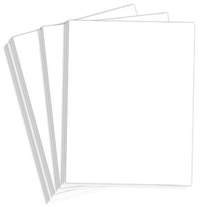 "8.5"" x 11"" Classic Crest 80# Menu Paper - Bright White (500 Sheets) - MEN-M200-2184"