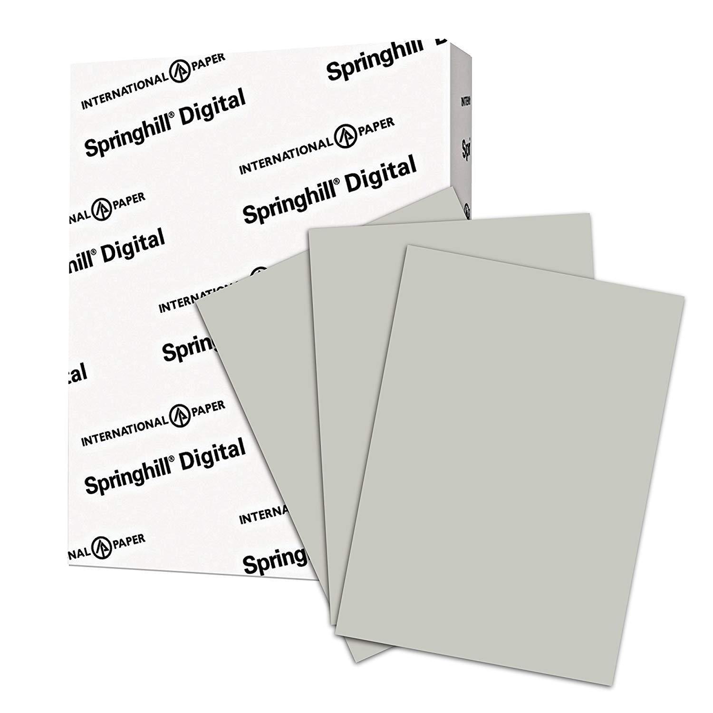 "8.5"" x 11"" Springhill 67# Vellum Bristol Cover Menu Paper - Gray (250 Sheets)"