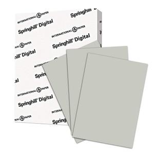 "8.5"" x 11"" Springhill 67# Vellum Bristol Cover Menu Paper - Gray (250 Sheets) - MEN-M30-111E"