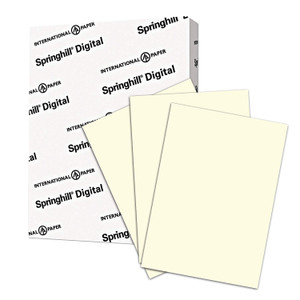 "8.5"" x 11"" Springhill Digital 67# Vellum Bristol Cover Menu Paper - Cream (250 Sheets) - MEN-P26-811Cream-67"