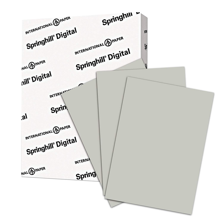"8.5"" x 11"" Springhill Opaque 60# Text Menu Paper - Gray (500 Sheets)"