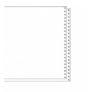 """9 1/2"""" x 11"""" 15# Blank Perforated 2-Part Carbon Interleaf Computer Paper (1500 sheets) - CP-9704"""